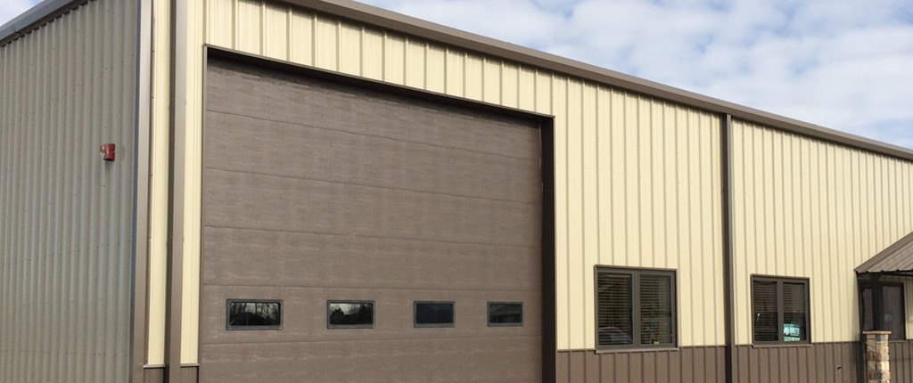 Thermal commercial garage door.