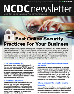 NCDC Newsletter - Best Online Security Practices for Your Business